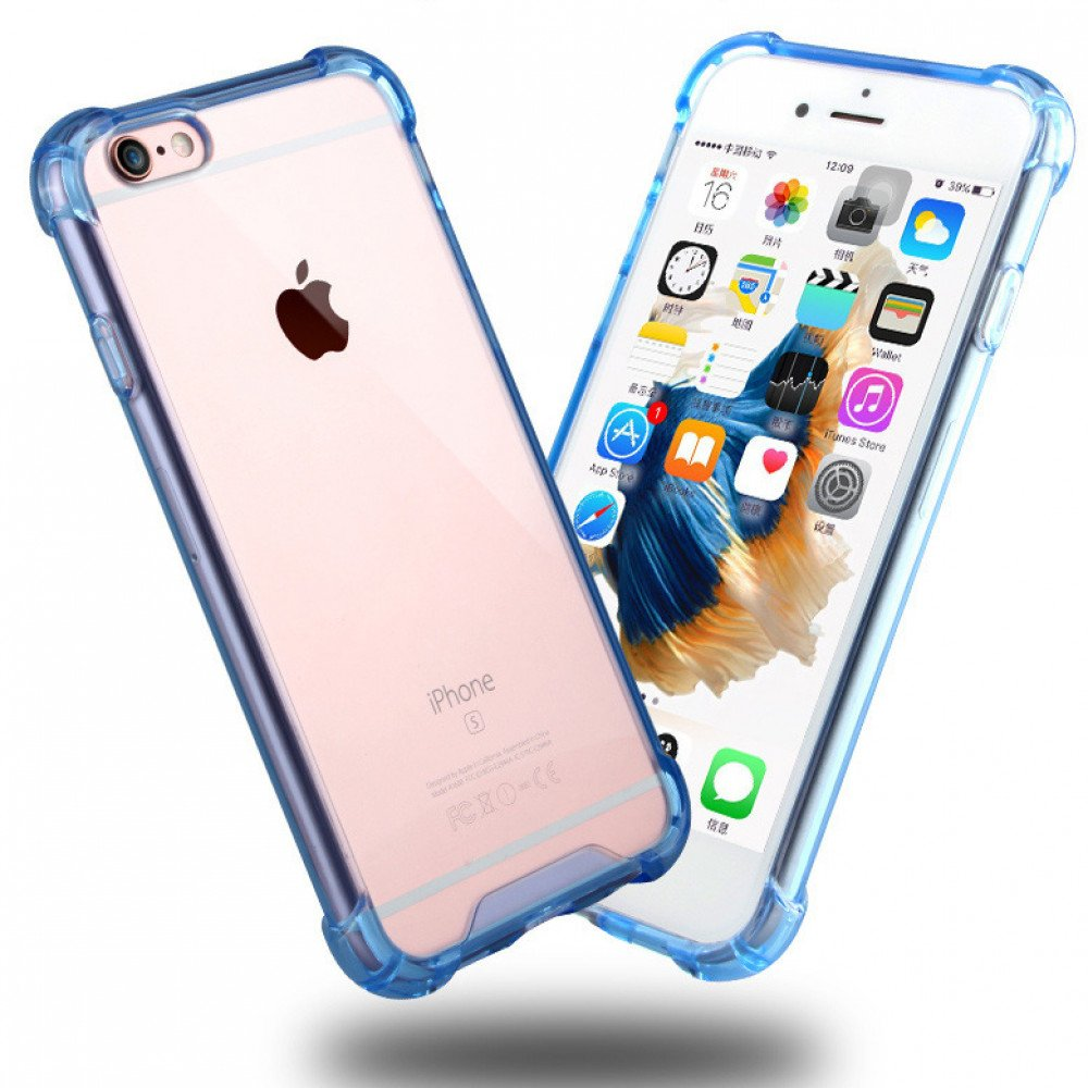 new product 68649 85b85 Wholesale iPhone 8 Plus / 7 Plus Crystal Clear Hybrid Case (Blue)