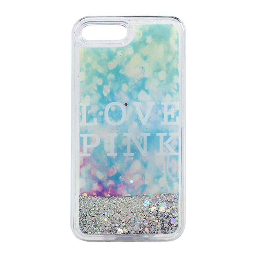 wholesale iphone 7 plus design glitter liquid star dust clear case love pink silver. Black Bedroom Furniture Sets. Home Design Ideas