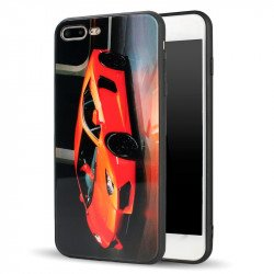 iPhone 8 / 7 Design Tempered Glass Hybrid Case (Race Car)
