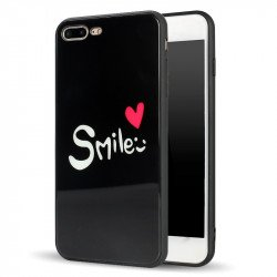 iPhone 8 / 7 Design Tempered Glass Hybrid Case (Smile)