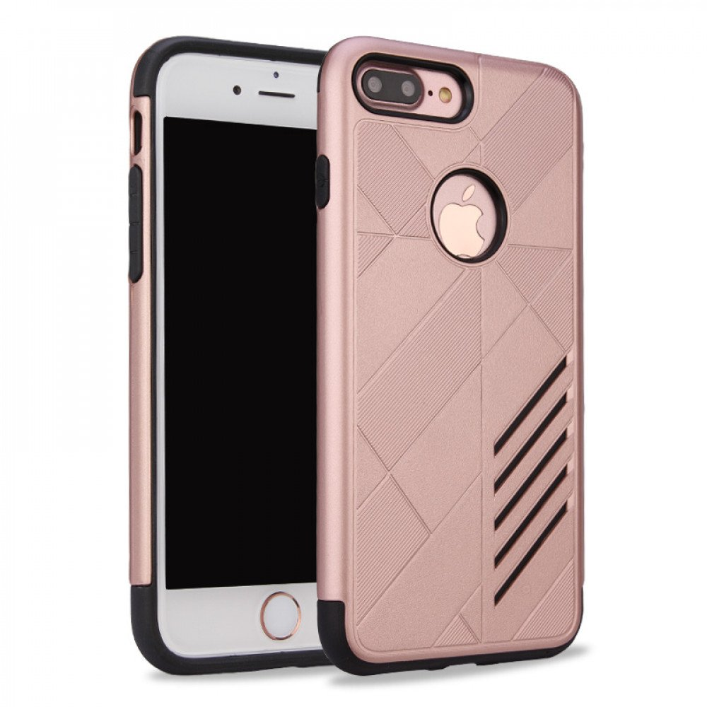 wholesale iphone 7 plus dual layer armor hybrid case rose gold. Black Bedroom Furniture Sets. Home Design Ideas