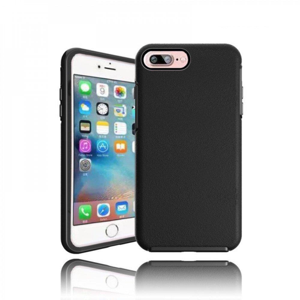 wholesale iphone 7 plus hard gummy hybrid case black. Black Bedroom Furniture Sets. Home Design Ideas