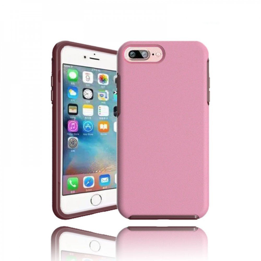 purchase cheap 26c66 ac21f Wholesale iPhone 7 Plus Hard Gummy Hybrid Case (Pink)