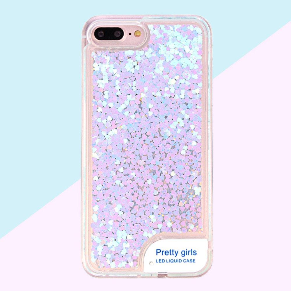 competitive price c2afd c8985 Wholesale iPhone 7 LED Light Up Liquid Star Dust Case (Blue)