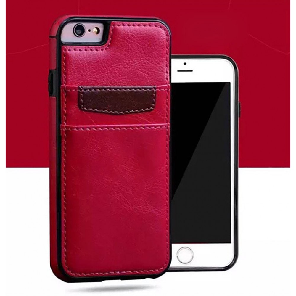 pretty nice 8bf92 ded0b Wholesale iPhone 8 / 7 Leather Style Credit Card Case (Red)