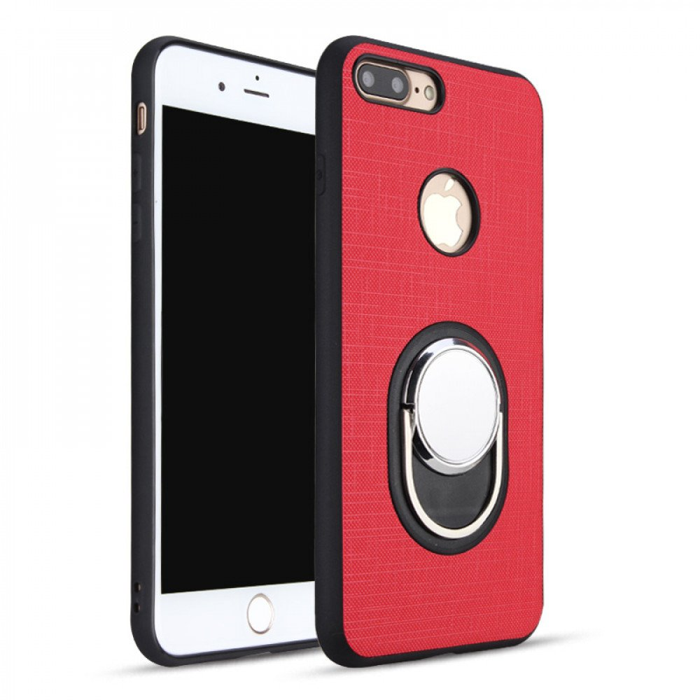 pretty nice 8bee2 14133 Wholesale iPhone 7 Plus Metal Plate Ring Holder Stand Hybrid Case (Red)