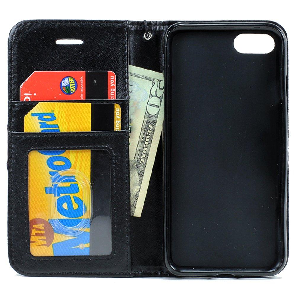cheaper e1738 55710 Wholesale iPhone 7 Plus Magnetic Flip Leather Wallet Case (Purple)