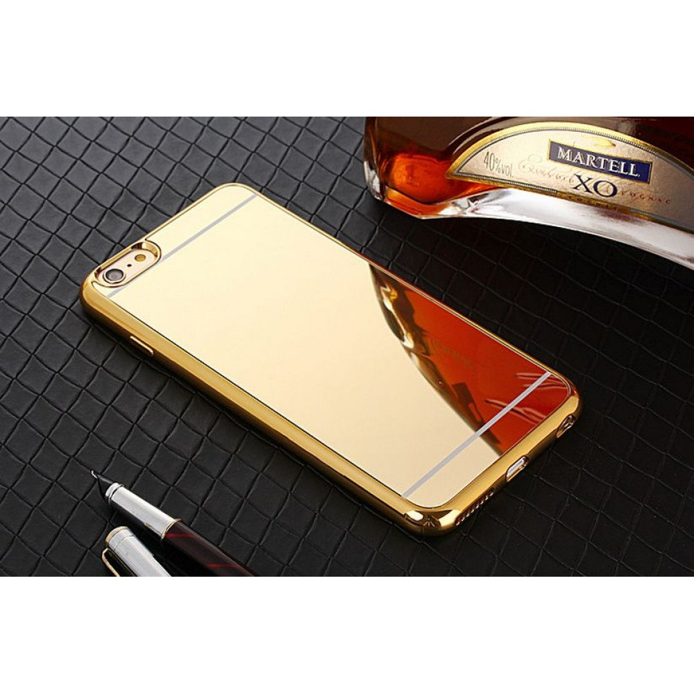 gold iphone case iphone 7 plus mirror shiny hybrid 4836