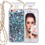 Wholesale iPhone 6S / 6 Perfume Bottle Glitter Shake Star Dust Necklace Case (Green)