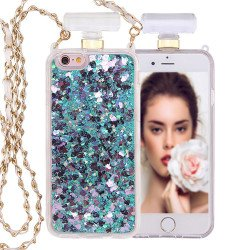 iPhone 6S / 6 Perfume Bottle Glitter Shake Star Dust Necklace Case (Green)