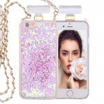 Wholesale iPhone 6S / 6 Perfume Bottle Glitter Shake Star Dust Necklace Case (White)