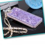 Wholesale iPhone 6S / 6 Perfume Bottle Glitter Shake Star Dust Necklace Case (Purple)
