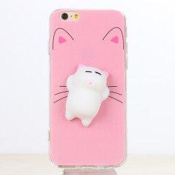 c501e43e80 Wholesale iPhone 7 Plus 3D Poke Squishy Plush Silicone Soft Case (Cat)