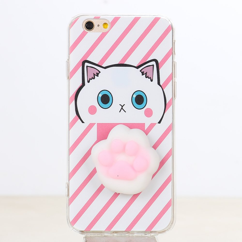 Squishy Cases Iphone 7 : Wholesale iPhone 7 3D Poke Squishy Plush Silicone Soft Case (Paw)