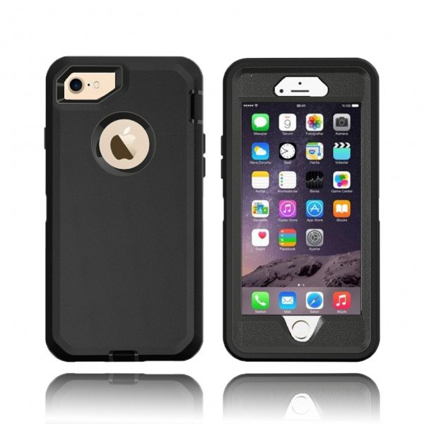 Wholesale iPhone 8 / 7 / 6S / 6 Premium Armor Defender Case (Black Black)