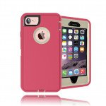 Wholesale iPhone 8 / 7 / 6S / 6 Premium Armor Defender Case (Hot Pink White)