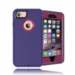 Wholesale iPhone 8 Plus / 7 Plus / 6S / 6 Plus Premium Armor Defender Case (Purple Hot Pink)