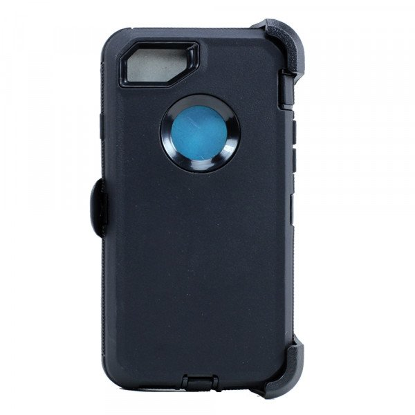 Wholesale iPhone 8 Plus / 7 Plus / 6S / 6 Plus Premium Armor Defender Case with Clip (Black-Black + Clip)