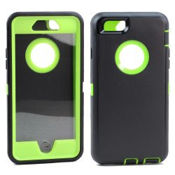 iPhone 8 Plus / 7 Plus / 6S / 6 Plus Premium Armor Defender Case (Black Green)