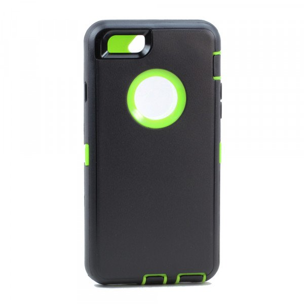Wholesale iPhone 8 / 7 / 6S / 6 Premium Armor Defender Case (Black Green)
