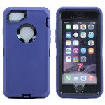 Wholesale iPhone 8 Plus / 7 Plus / 6S / 6 Plus Premium Armor Defender Case with Clip (Blue-Black + Clip)