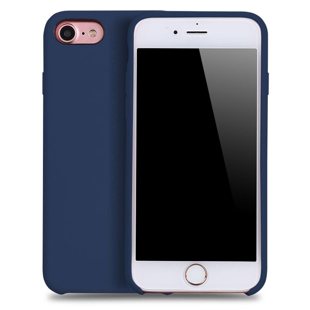 wholesale iphone 8 7 pro silicone hard case navy blue. Black Bedroom Furniture Sets. Home Design Ideas