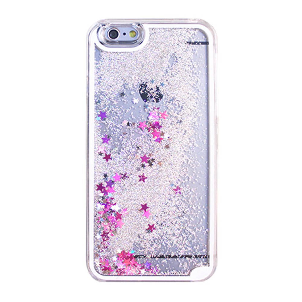 Wholesale Iphone 7 Glitter Shake Star Dust Clear Case Silver
