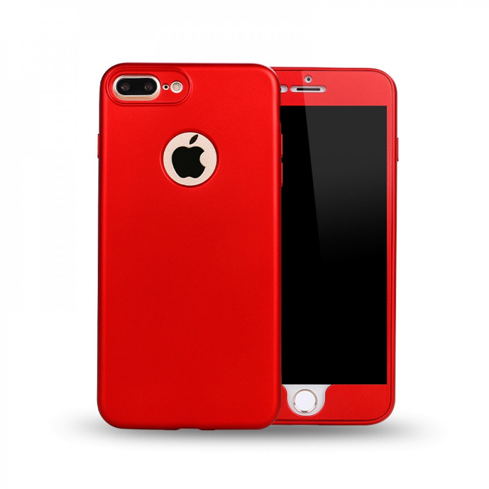 Wholesale Iphone 7 Plus Tpu Full Cover Hybrid Case Red