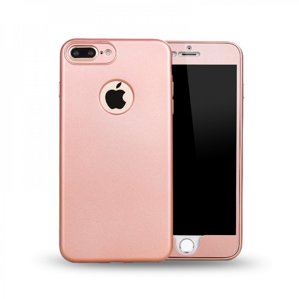 Wholesale Iphone 7 Plus Tpu Full Cover Hybrid Case Rose Gold