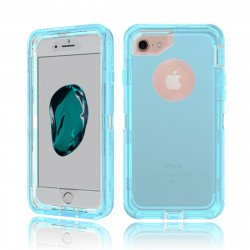 iPhone 8 / 7 / 6S / 6 Transparent Armor Defender Case (Blue)