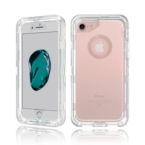 Wholesale iPhone 8 Plus / 7 Plus / 6S Plus / 6 Plus Transparent Armor Defender Case (Clear)