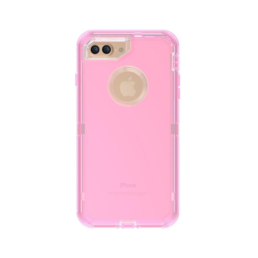 wholesale iphone 7 plus 6s plus 6 plus transparent armor defender case pink. Black Bedroom Furniture Sets. Home Design Ideas