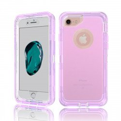 iPhone 8 / 7 / 6S / 6 Transparent Armor Defender Case (Purple)