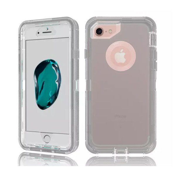 Wholesale iPhone 8 Plus / 7 Plus / 6S Plus / 6 Plus Transparent Armor Defender Case (Smoke)