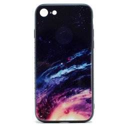 iPhone 8 Plus / 7 Plus Design Tempered Glass Hybrid Case (Galaxy)