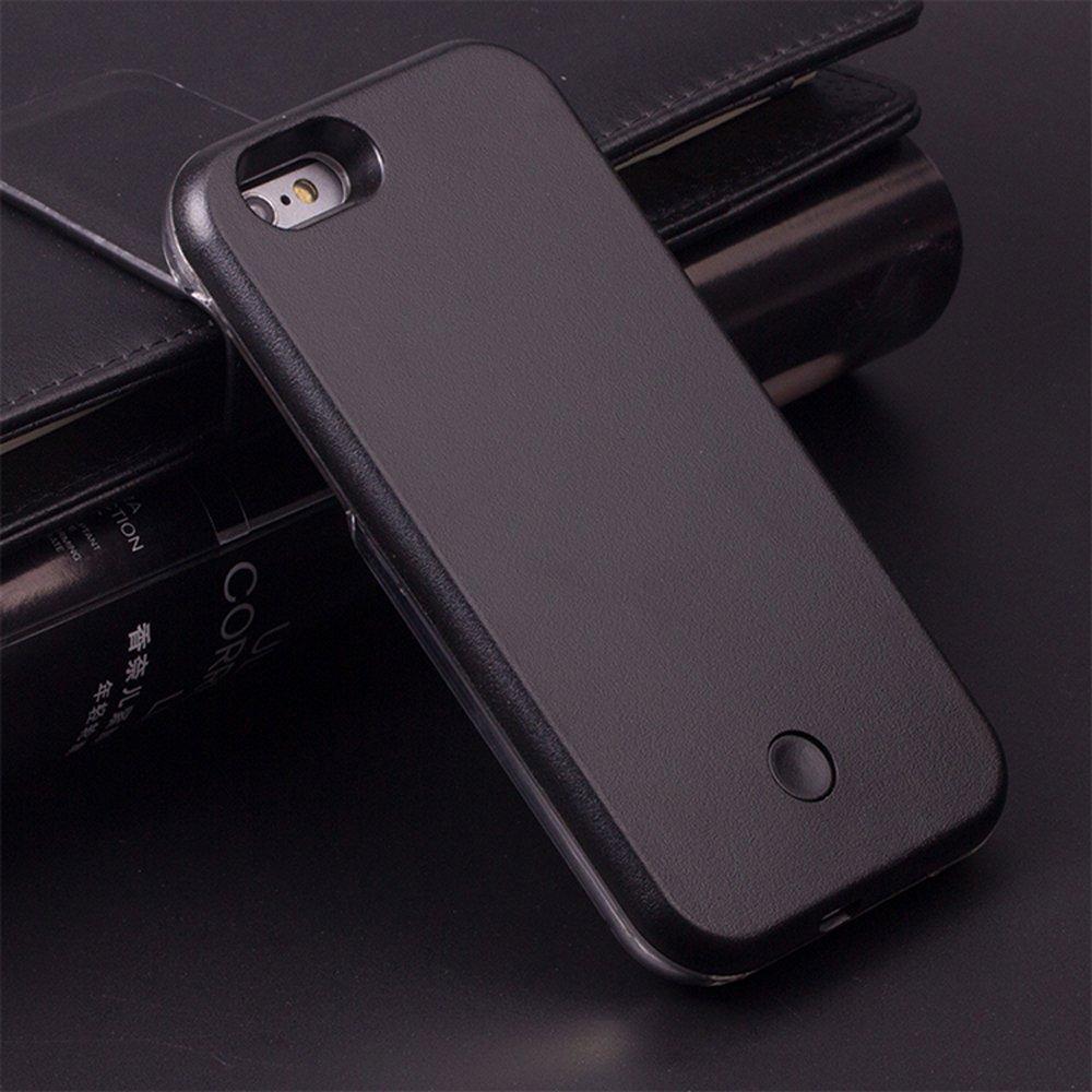 best cheap bd7db ee8ca Wholesale iPhone 8 / 7 Selfie Illuminated LED Light Case (Black)