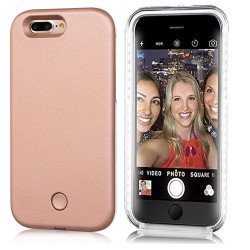 iPhone 6S / iPhone 6 Selfie Illuminated LED Light Case (Rose Gold)