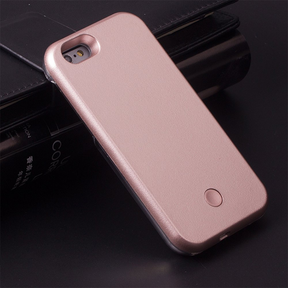 Wholesale Iphone 6s 6 Selfie Illuminated Led Light Case Plus Rose Gold