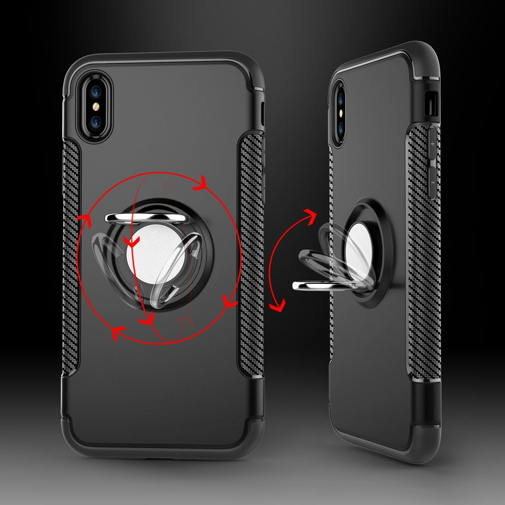 Wholesale iphone x ten 360 rotating ring stand hybrid for Ring case