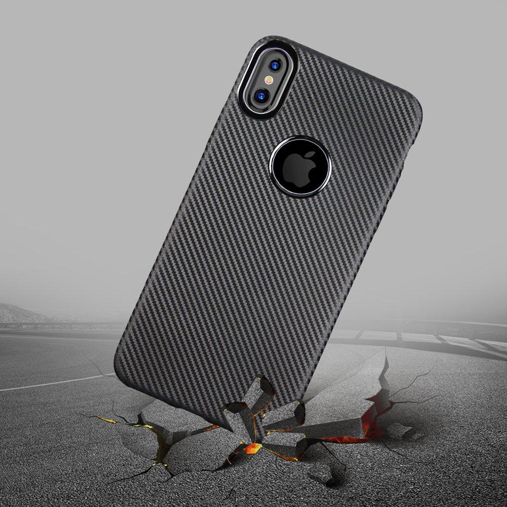 Wholesale Iphone X Ten Carbon Fiber Design Tpu Case