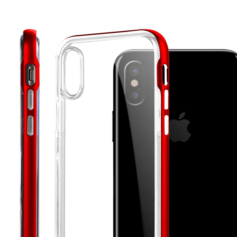 Wholesale Apple Iphone X Ten Clear Armor Bumper