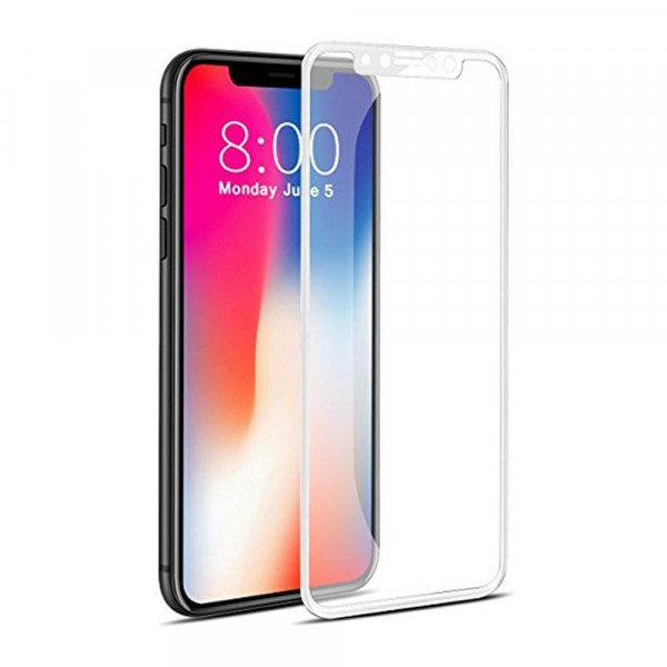 Wholesale iPhone XS / X 5D Tempered Glass Full Screen Protector (5D Glass White)