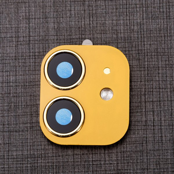 Wholesale Upgrade Camera Lens Tempered Glass for iPhone XR to iPhone 11 (6.1in) (Yellow)