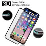 Wholesale iPhone XS / X Tempered Glass Full Screen Protector (Glass Black)