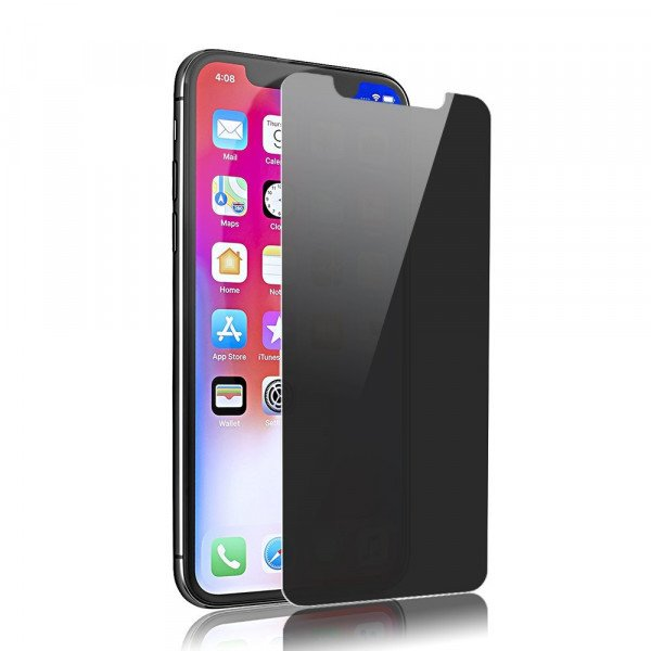 Wholesale iPhone XS / X Privacy Anti-Spy Full Cover Tempered Glass Screen Protector (Black)