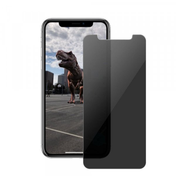 Wholesale iPhone Xr 6.1in Privacy Anti-Spy Full Cover Tempered Glass Screen Protector (Black)
