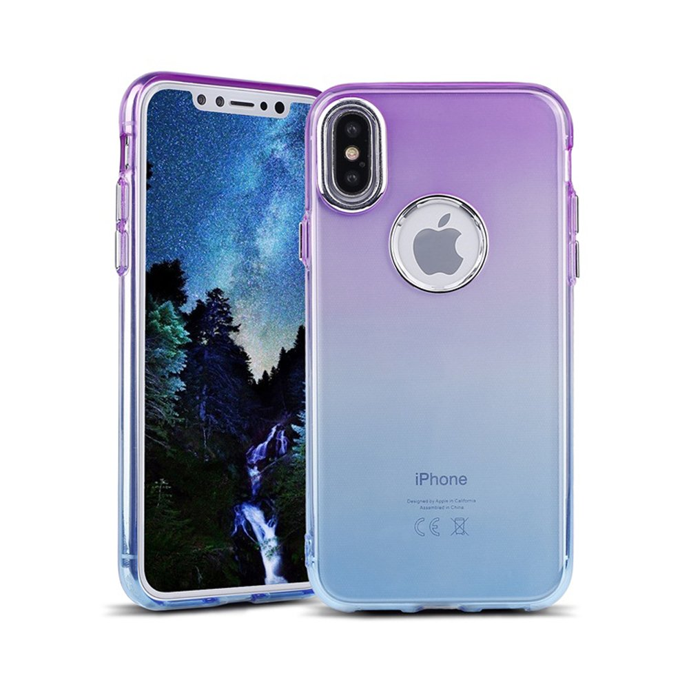 Wholesale Iphone X Ten Two Tone Color Hybrid Case