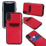 Wholesale iPhone Xr 6.1in Leather Style Credit Card Case (Red)