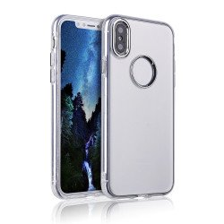 iPhone Xr 6.1in Chrome Metallic Transparent Case (Clear)