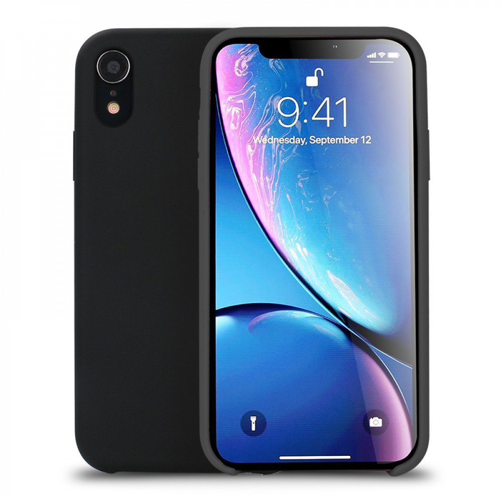 sports shoes 7b1e5 6ee9b Wholesale iPhone Xr 6.1in Pro Silicone Hard Case (Black)